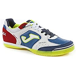 Joma TOP FLEX 716 Indoor - Scarpe Calcetto Uomo - Men's Futsal Shoes - TOPW.716.IN (42, bianco-royal-rosso)