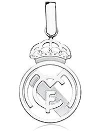 Colgante escudo Real Madrid oro blanco ley 9k calado [AB4593] - Modelo: 0530-042-B