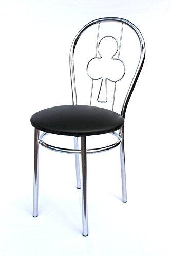DanDiBo Stuhl aus Metall Bistrostuhl Art.261A Kreuz 88 cm verchromt Stühle
