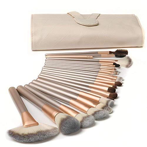 TTRWIN Make up pinsel Professionelles Set 18 Stück, kosmetik Kabuki Synthetic Face Blush Lippenschatten Eyeliner Foundation. Mit einer stylischen weißen leder Paket