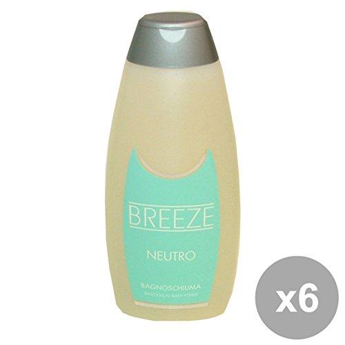 Breeze Lot de 6 Salle de Bain neutre 400 ml. Les savons et cosmétiques
