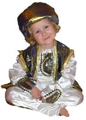 AN19 Gr. 110-116 Prinzkostüm, Prinz Faschingskostüme, Prinzkarnevalskostüm, für Kinder, Jungen, Mädchen, für Fasching Karneval Fasnacht, auch als Geschenk zum Geburtstag oder Weihnachten