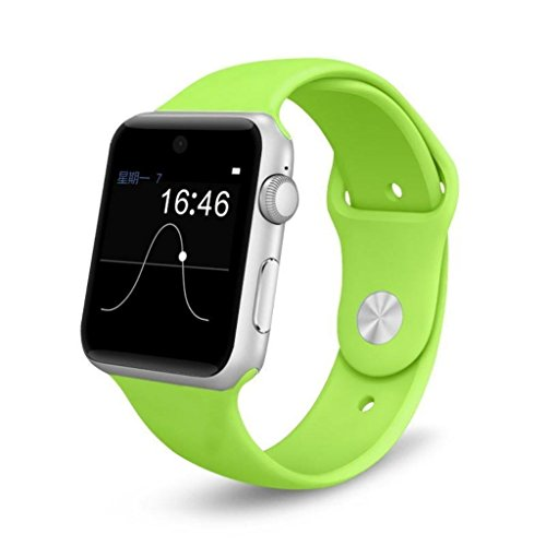 Montre Connectées android ,Stoga SW25 Smart watch puce Bluetooth montre intelligente Support SIM carte Smartphone Fitness Tracker pour IOS Android - Vert