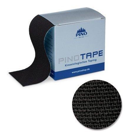 Pinotape Pro Therapy ® - Das Original - Kinesiologie Baumwolle Tape verschiedene Farben und Designs 5 cm x 5 m, besonders hautfreundlich - Physio-Tape (Schwarz)
