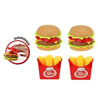 UMKYTOYS Kids Play Food Burger Fries Set Pretend Play Kitchen and Food Toys