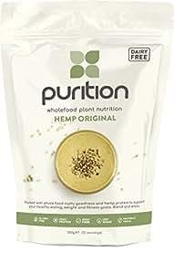 Purition frullato vegano con semi di canapa crudi (500gr) Integratore proteico per una sana perdita di peso e recupero post allenamento – Sostituto di un pasto con il 100% di ingredienti naturali