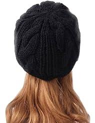 Gleader Femme Hiver Chapeau Fille Tricote Bonnet/ Beret Casquette