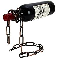 Coface novità magica del vino Bottle Holder galleggiante in acciaio Bottiglia Catena Wine Rack /