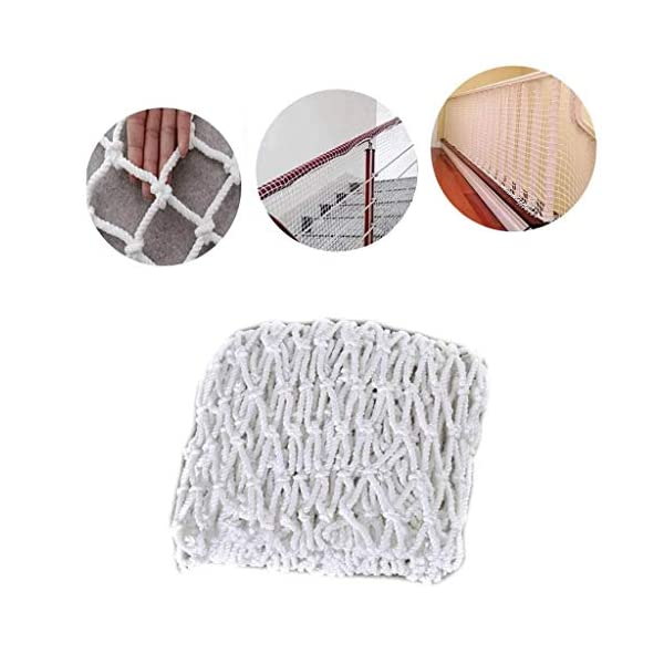 Balcony protection net, stair shatter-resistant net, terrace safety net, nursery fence net, playground park stadium fence net hammock swing (Size : 10 * 10M(33 * 33ft))  ◆ Safety net wire diameter 6MM, mesh spacing 10CM.Color: white rope net.Our protective mesh can be customized according to your needs. ◆Protective net material: Made of nylon braided rope, hand-woven, tightened.Exquisite workmanship, solid and stable, can withstand 300kg weight impact. ◆Features of decorative net: soft material, light mesh, multi-layer warp and weft, fine wiring, fine workmanship; clear lines, non-slip durable, anti-wear. 1