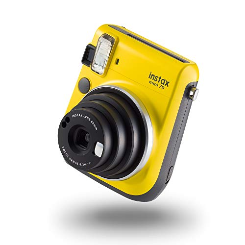 instax mini 70 camera with 10 shots, Canary Yellow