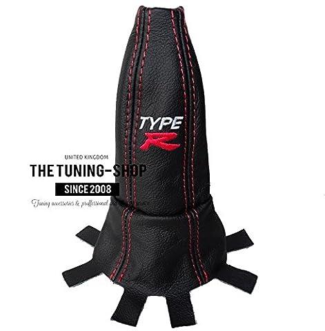 Pour Honda Civic Type R Fn22006–12Soufflet de levier Cuir Noir