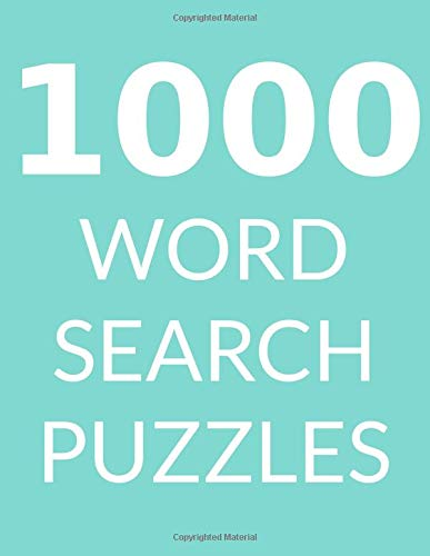 1000 WORD SEARCH PUZZLES: Word Search Book for Adults, Vol 6 por Rachel Light