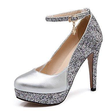 Talons pour femmes Printemps Été Automne Hiver Club Chaussures Cuirette Fête de mariage et robe de soirée Sable de talon aiguillon Noir Rouge Sliver Silver