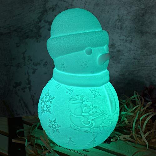 LDAKLE Lámpara De Muñeco De Nieve De 16 Colores para...