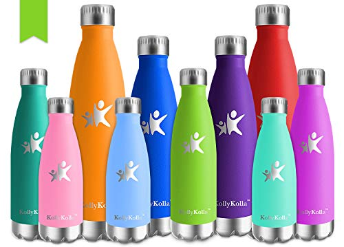 KollyKolla Botella de Agua Acero Inoxidable Termica Oficina Termos Agu