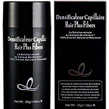 HAIR PLUS frasco 30 G Negro Polvo densifiante máscara la calvicie y cabello escasa