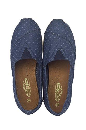 Brasileras Tejano Alpargatas / Espadrilles aus Jeansstoff, unisex, blau, Größe 42