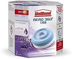 UniBond Aero 360° Moisture Absorber Relaxing Lavender Refill Tabs pack of 2 x 450g