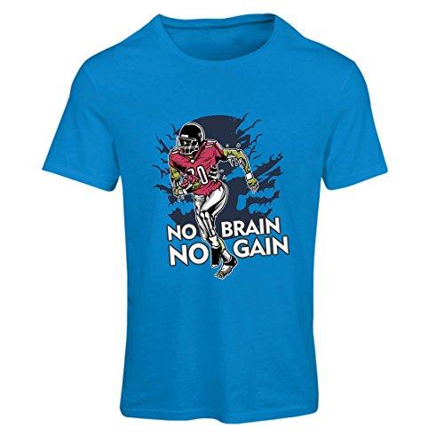 Maglietta Donna Senza cervello nessun guadagno! Zombie Football Player - citazioni di calcio di ispirazione Azzulo Multicolore