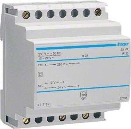 Hager ST312 Klingeltrafo 12V/AC 2,08A, 24V/AC 1,04A -