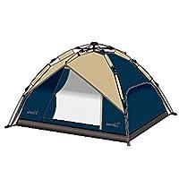Sahare 4 Person Double Layer Quick Open Tent, 210X210X130 cm, ALX002
