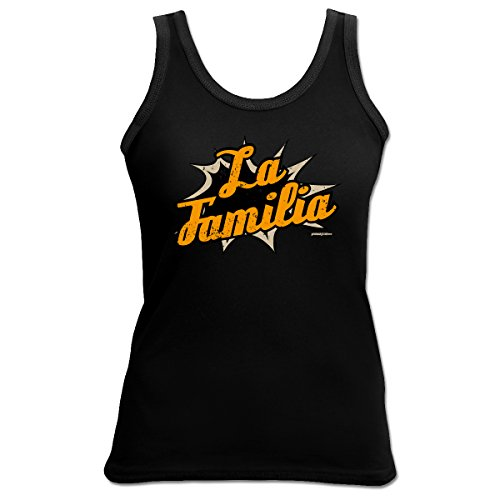 TankTop T-Shirt ::: La Familia ::: Girl Schwarz Schwarz
