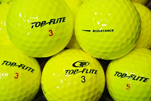 LBC de Sports 25 * AAAA/AAA * balles de golf Jaune Top Flite – Lake Balls Yellow Topflite