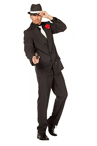 shoperama Herren-Kostüm Gangster inklusive Hut Mafioso Mafiosi Mafiaboss Erwachsene Verbrecher, Größe:50