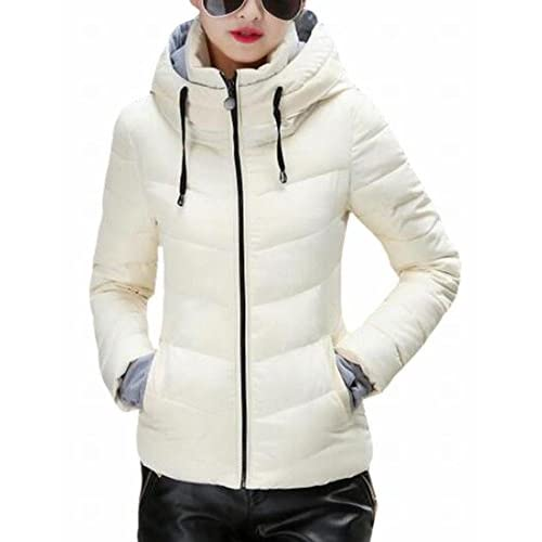 41rNaVyKgvL. SS500  - today-UK Women Winter Hooded Down Jacket Quilted Puffer Outwear Coat