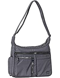 Lug Double Dutch Cross-body Bag, Brushed Grey Cross Body Bag