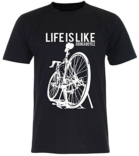 PALLAS Unisex's Cycling Life Is Like Riding A Bicycle Black