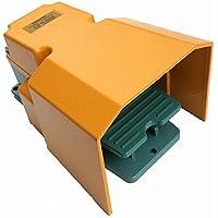 CNTD cfs-5021A1B 250V 15A Protección Guardia Industrial único Pedal Interruptor de pie para CNC máquina de soldadura equipos de impresión estampado, momentáneo Acción