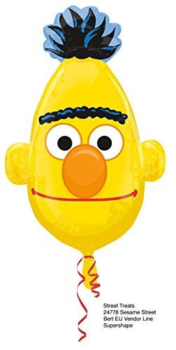 e Bert ca. 80cm Luftballons Folienballon Party DekorationGeburtstag ()