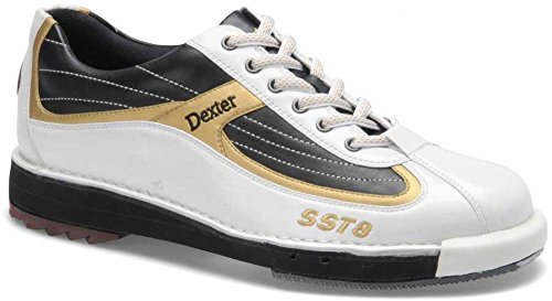 Dexter SST 8bowling shoe White/Black/Gold
