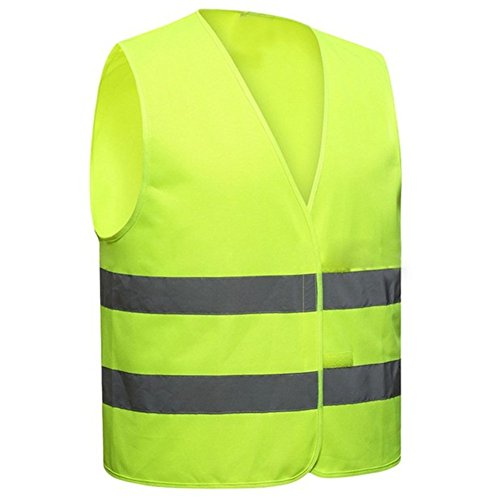 Hosaire Chaleco Reflectante Talla única Poliéster Color Amarillo Chaleco de Saneamiento Work Night Actividad Ropa de Trabajo