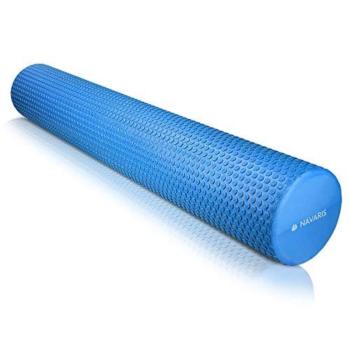 Navaris Pilates Rolle Faszienrolle 90 cm lang - Pilatesrolle Faszien Yoga Roller - Schaumstoffrolle für Rücken Fitness - Massagerolle versch. Farben
