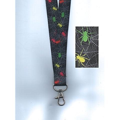 1x Halloween ragni per Halloween con cordino da collo in sicurezza Free UK P & P - Hairy Spider Decoration