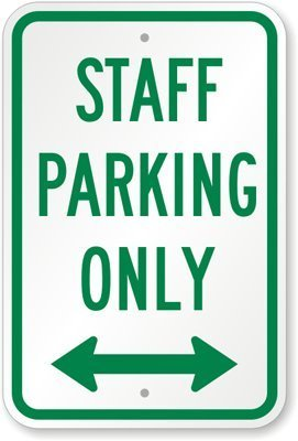 qidushop lustiges Dekoschild Schilder Staff Parking Only mit bidirektionalen Pfeil Metall Zeichen für gardern Garage Einfahrt Schild 30 x 45 cm - Metall Pfeil-zeichen