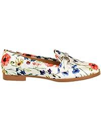 Zapato Plano Tipo mocasín con Estampado Floral y Adorno en la ...