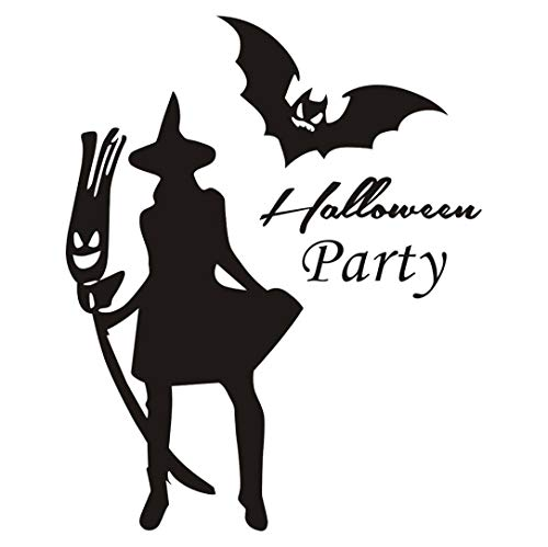 (Wandsticker,Transwen Happy Halloween Home Haushalt Zimmer Wand Aufkleber Wandbild Aufkleber Abnehmbar Wandaufkleber Abziehbild Dekor Sticker (Schwarz))
