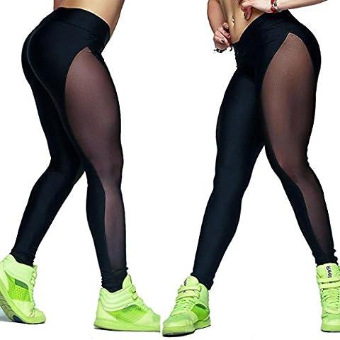 Oyedens YOGA Los pantalones de yoga Las mujeres de malla al aire libre Gimnasio Fitness Elastic polainas Joggers