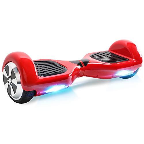 "BEBK Hoverboard, 6.5\"" Self Balance Scooter mit 2 * 250W Motor, LED Lights Elektro Scooter (Red)"