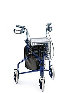 Deluxe Aluminium Indoor Outdoor Tri Wheel Walker