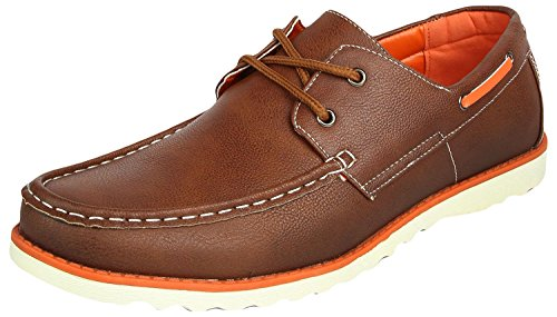 Spunk Men's Synthetic Leather Boat Shoes