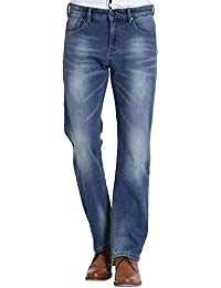 SSLR Jeans Homme Doublé Polaire Chaud Droit Regular Fit Denim