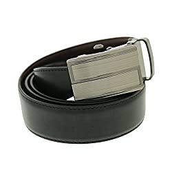 Walletsnbags Mens Leather Metro Rex Reversible Belt (B13_Black_36)