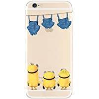 New Disney trasparente Cartoons character Minnions and others trasparente in poliuretano termoplastico per iPhone-Cover per Apple iPhone 5, 5S, 5C, 6/6S, 7 plastica, (iphone 7plus / iphon 8plus, Minions Starring Pants)