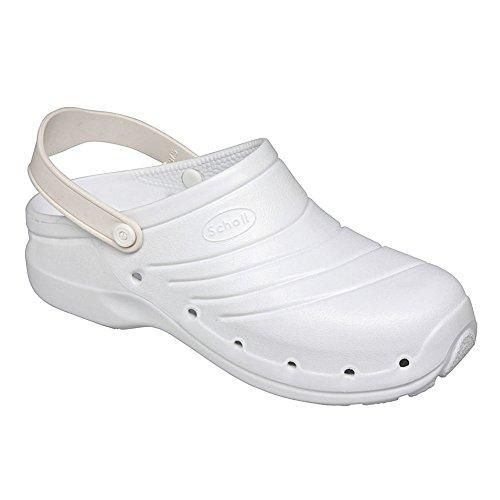 Scholl Worklight calzatura professionale, Colore: Bianco, Taglia: 41-42 Bianco (bianco)