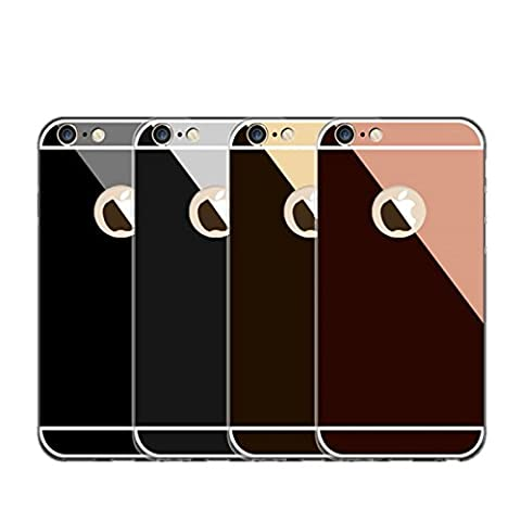 Incendemme Housse / Etui Téléphone en Silicone TPU Miroir Portable Coque pour iPhone7/7pluis (iPhone 7, Rose)