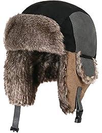 AHAHA Gorra de Bombardero para Niños Sombrero de Invierno Unisex Caperuza  Caliente Niños Orejeras Sombrero de b3de07646f1